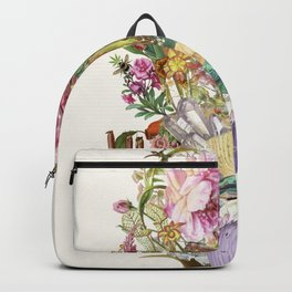 Mi Corazon anatomical heart collage by Bedelgeuse Backpack
