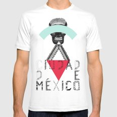 Locals Only - Ciudad de México Mens Fitted Tee MEDIUM White