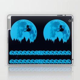 The Moon on Dragon Ball - Blue Laptop & iPad Skin
