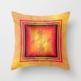 Vintage pattern orange red Throw Pillow