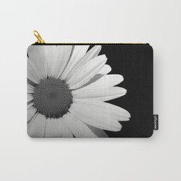 Black & White Half Flower Carry-All Pouch