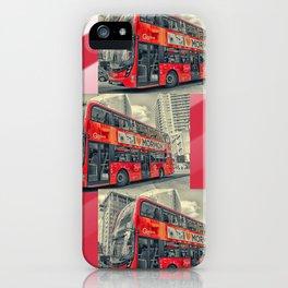 London Mormon Red Bus iPhone Case