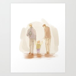 Becoming a Family Art Print
