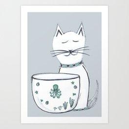 The Cat & The Octopus Art Print