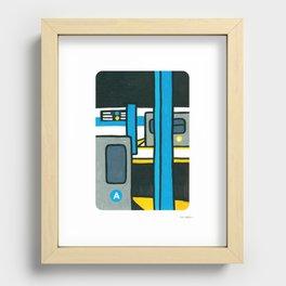NY SUBWAY Recessed Framed Print
