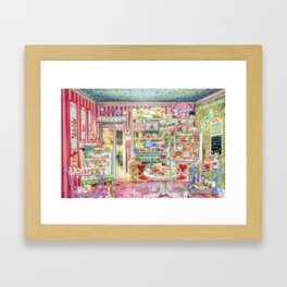 The Little Cake Shop Framed Art Print