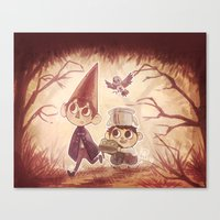 over the garden wall Canvas Prints featuring Over the Garden Wall by Keikilani