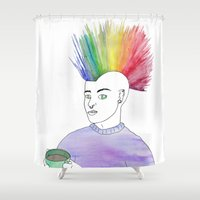 anarchy Shower Curtains featuring Cosy Anarchy by Cazzasaurus