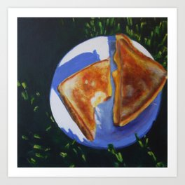 Grilled Cheese, Please Art Print
