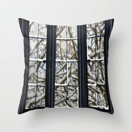 Winter Window Throw Pillow