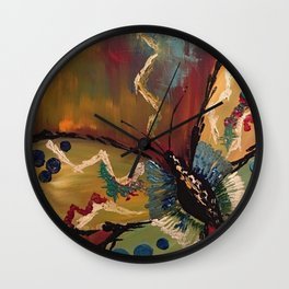 Butterfly in Richness Wall Clock