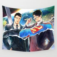heroes Wall Tapestries featuring Heroes by Hai-ning