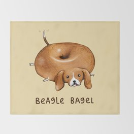 Beagle Bagel Throw Blanket