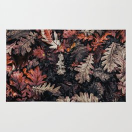 Autumn to winter dry leaves Rug