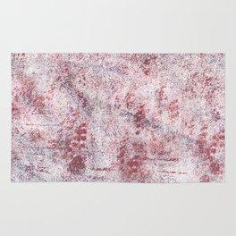 Queen pink abstract watercolor Rug