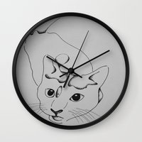 harley Wall Clocks featuring Harley by seekmynebula