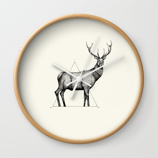 'Wildlife Analysis II' Wall Clock