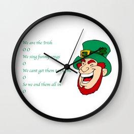 We are the irish O O Wall Clock