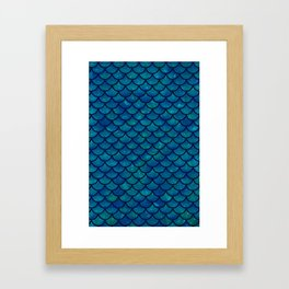 Mermaid scales iridescent sparkle Framed Art Print