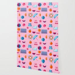 Summer beach essentials Wallpaper