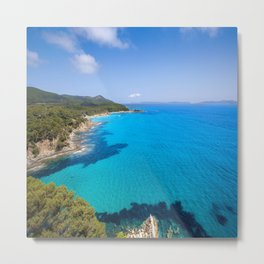 Forever French Riviera Blue Metal Print