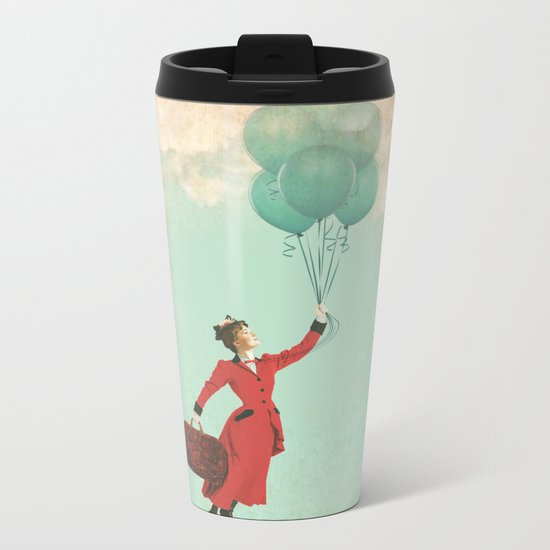 Mary, the secret behind the umbrella Metal Travel Mug