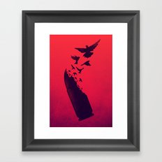 Bullet Birds Framed Art Print