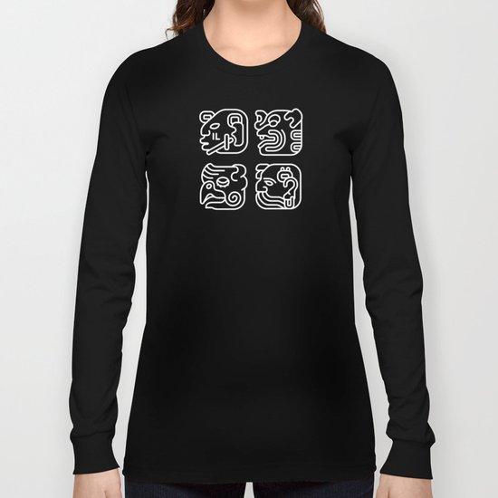 Mayan Glyphs ~ Heads Long Sleeve T-shirt
