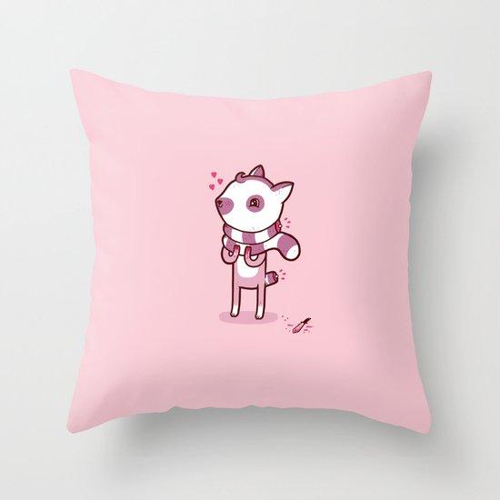 Lemur Chic Throw Pillow
