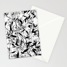 Wandering Wildflowers Black and White Stationery Cards