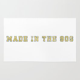 Made in the 90s Blue and Yellow Rug