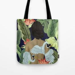 Cranes of Paradise Tote Bag