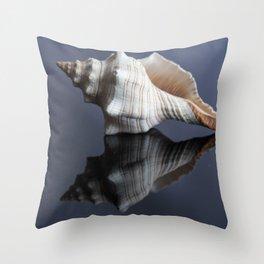 Horse Conch Seashell Throw Pillow