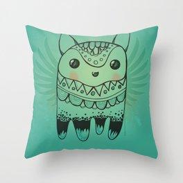 Jelly Fox Blue Throw Pillow