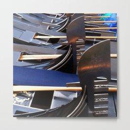 Gondolas, Venice Metal Print