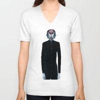 surrealism V-neck T-shirts featuring Optimistic Surrealism by PandaGunda