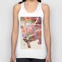 vancouver Tank Tops featuring Vancouver by MapMapMaps.Watercolors