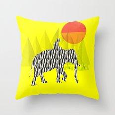 Zelephant - Mahout & Elephant Throw Pillow