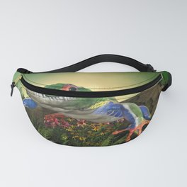 Awesome funny crocodilefrog Fanny Pack