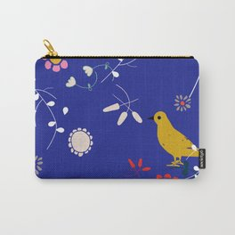 Bird and blossom electric blue Carry-All Pouch
