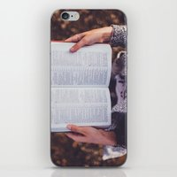 bible verses iPhone & iPod Skins featuring Bible by Johnny Frazer