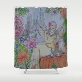 Fairy and Bunny Shower Curtain