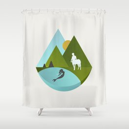 The Mermaid and the Centaur Shower Curtain