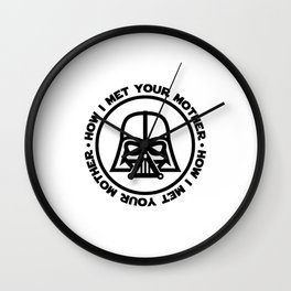 darth-mother Wall Clock