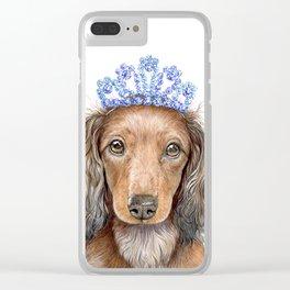 Little dachshund princess Clear iPhone Case