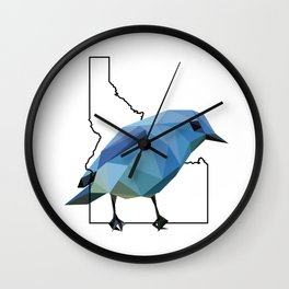 Idaho – Mountain Bluebird Wall Clock