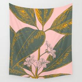 Modern Botanical Banana Leaf Wall Tapestry