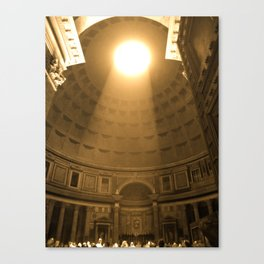 Inside the Pantheon  Canvas Print