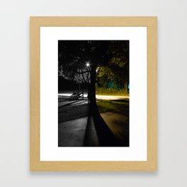 Split Night Framed Art Print