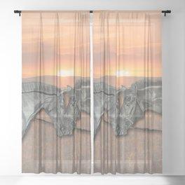Equestrian Love Sheer Curtain